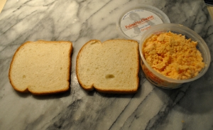 Palmetto Cheese Sandwich and tub