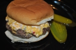 Pimento Cheese topped hamburger