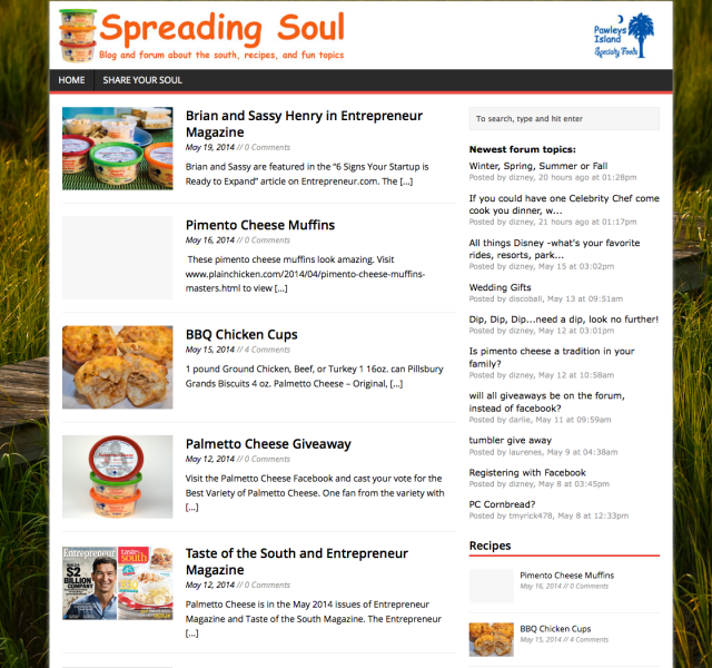 spreading soul forum palmetto cheese
